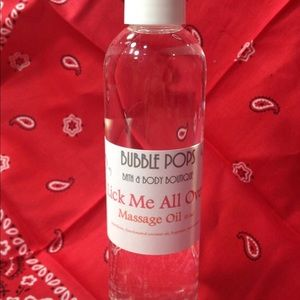 Lick Me All Over Massage Oil, 8 oz.